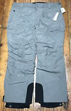 LL Bean Womens 1X 276712 Pants Waterproof Ski Snow Gray Pockets Snowboard NWT