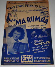 Partition vintage sheet music YVETTE HORNER : Ma Rumba * Accordéon