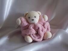 Doudou ours plume rose, attache tétine, Kaloo