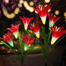 Solar Lily Flower LED Light Waterproof Outdoor Garden Yard Lawn Landscape Lamp