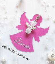 Gastgeschenke- Karte in Engelsform Pink + Engel-Hochzeit -Taufe -Kommunion DANKE