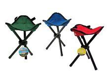 NEW Outdoor Folding Tripod Seat Camping Hiking Fishing Stool Picnic BBQ Chair!