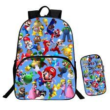 3D Print Super Mario Bros. Backpack School Bookbag Shoulder Bag and Pencil Case
