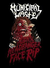 MUNICIPAL WASTE cd lgo HEADBANGER FACE RIP Official SHIRT XL New art of partying