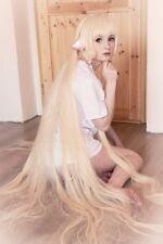 "Albedo Cosplay Wig Long Straight Brown Black White Anime Hair Women 150cm 59"""