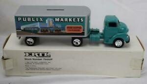 Ertl 7640UP 1950 Chevy Cab & Trailer Publix Markets Truck Bank NIB