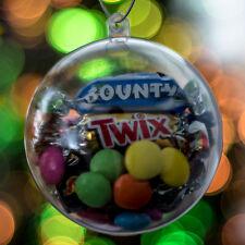 X50 Transparente Baubles vacío Fillable árbol de Navidad Decoraciones 80mm Adorno Regalo W