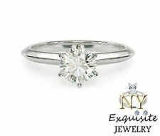 .75ct  3/4 CARAT F/VS2 ROUND-CUT DIAMOND 14K GOLD SOLITAIRE ENGAGEMENT RING
