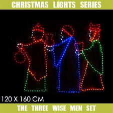 Christmas LED Motif The Three Wisemen 120x160cm  Indoor Outdoor Display Sign