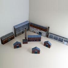 More details for 1:220 z gauge model railway industrial warehouse pack of 8 x buildings (p-i-002)