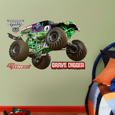 Monster Trucks Grave Digger - Fathead Jr. Wall Decal Sticker - 38x23