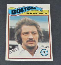 WORTHINGTON BOLTON WANDERERS TROTTERS FOOTBALL CARD 1978 TOPPS ORANGE PANINI