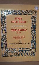 Pianoforte primo Assolo BOOK, Tobias matthay OP 37 livello preliminare, UPPO