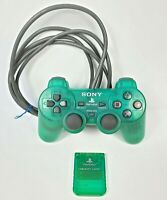 Sony Playstation Green Controller Memory Card OEM PS1 Tested SCPH-1200 Authentic
