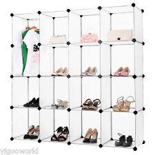 LANGRIA 16 Modular Storage Clothes Closet Organizer Wardrobe Cube Shoes Shelves