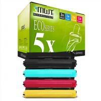 5x MWT Eco Cartucho Compatible para Brother MFC-L-9550-CDWT HL-L-9200-CDWT