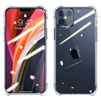 For iPhone 12 11 Pro X XR XS Max Mini Premium Case Clear Slim Shockproof Cover