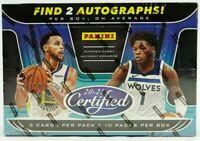 READ 2020/21 Panini Certified Basketball 1 Hobby Box Random Team Break #2 READ
