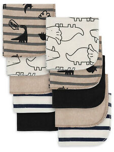Gerber Newborn Baby Boy Assorted Terry Printed Washcloths, 10 Pack