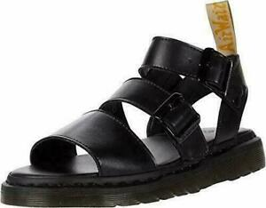 Dr. Martens Gryphon Airwair Vegan Leather Black Sandals M 6 W 7 EU 38 UK 5 NWT