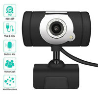USB 2.0 HD Web Cam Camera Webcam with Microphone for Computer PC Laptop Desktop