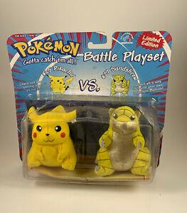 Pokemon Battle Playset #25 Pikachu vs. #27 Sandshrew Plush Figures applause