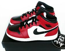 Nike Air Jordan 1 Retro Mid Chicago Toe Red White Black UK 3 4 5 6 7 8 9 10 US