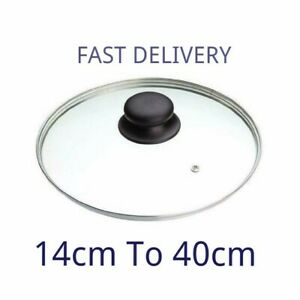 Glass Lid Pan Frying Saucepan Casserole Tempered Wok Lid Clear 14cm 40  All Size