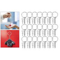 """50 x 1 """"porte-clés fendu avec anneaux de saut à chaîne ouverts et broches à"""