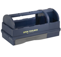 Raaco 137195 open toolbox with 3 compartments & 1 drawer carry tool box