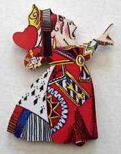 Alice in Wonderland Queen of Hearts Deluxe Wooden Fridge Magnet - AW9J