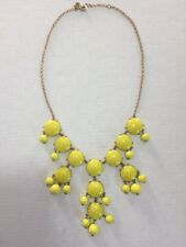 J. Crew Yellow Bubble Statement Necklace Authentic Bright Neon Beaded