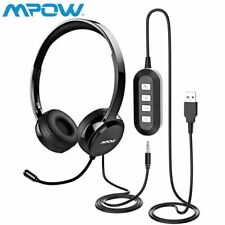 Mpow On-Ear Headset Kopfhörer Stereo PC Computer Headset Mikrofon USB&3.5mm DHL