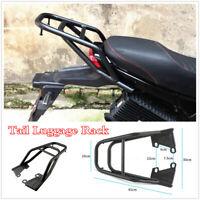 Black Motorcycle Tail Luggage Rack Seat Extension Rear Shelf Tool Box Bracket