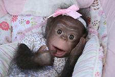 Reborn  CiCi ChiMpAnZeE Ape Monkey Baby Doll~ ready to ship!
