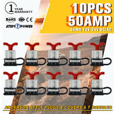 10pcs 50 AMP Anderson Style Plug Dust Cover With T Handle Trailer Solar Caravan