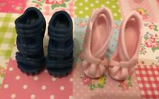 Doll shoes ~ 2PAIRS Mattel Monster High Ever After Heel Sandal shoes #MS-596