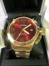TW Steel CB111 Canteen Gold-Tone Red Dial 45mm Stainless Steel Watch