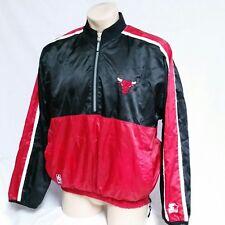 VTG Chicago Bulls Starter Windbreaker Jacket Pullover Reversible Coat Ski Large