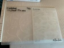Lot Of 5 Embossing Folders SIZZIX, STAMPIN-UP, PROVO CRAFT, PAPER STUDIO