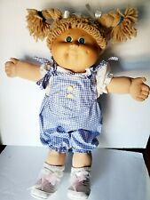 New ListingCabbage Patch Kids 1985 doll Vintage Light Brown Hair Green Eyes 17'