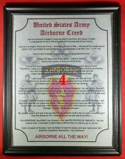 Mc-Nice: Army Airborne Creed 4th Bct 25th Id Framed Personalized
