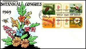 Scott 1379a 6 Cents Botanical Congress H.R. Maul Hand Painted FDC