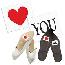 "Schuhsticker  ""Love YOU"" 2 Stk. Schuh Sticker Aufkleber Brautschuhe"