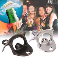 Retro Wall Mount Bottle Opener Bar Club Wine Beer Soda Glass Cap Open Tool Kit