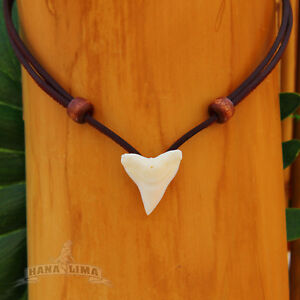 Shark Tooth Necklace Surfer Necklace Leather Necklace Surf Jewelery