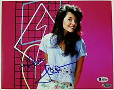 Tiffani Thiessen Signed 8x10 Photo #1 Kelly Kapowski Auto w/ Beckett BAS COA