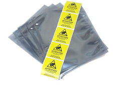 "5 Pcs ESD Anti Static Shielding Bags 6 x 8"" Flat, 3 mil, Open Top + Labels"