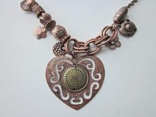 Large Ornate Ethnic Inspired Copper Plated & Brass Plated Necklace