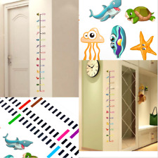 Removable Height Chart Measure Animals Wall Sticker Decal For Kids Room Undersea